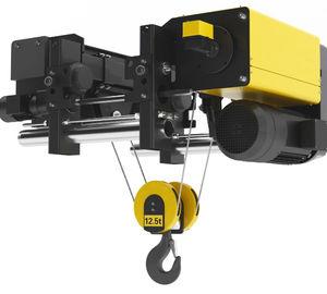 Single Girder Electric Wire Rope Hoist 12.5 T With Single Or Double Speed