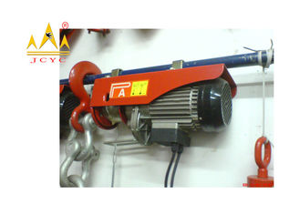 China Fast Type Mini Electric Wire Rope Hoist With Emergency Stop Switch supplier