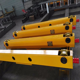 China Single Girder Crane End Carriage Yellow 1t To 20t With Customized Span supplier