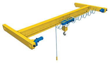 China 16 tons 18 meters Single Girder Overhead Crane 220V European Type distributor