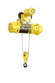 Yellow Color Electric Wire Rope Hoist Double Speed In High Temperature Area