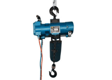 China 0.5 ton Explosion Proof Chain Hoist Blue Alloy Steel 400 Capacity Blue Color distributor