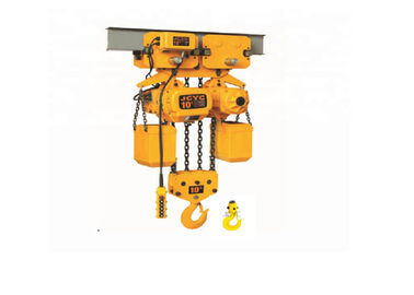 Durable Movable 10 Ton Single Phase Electric Chain Hoist With Trolley And Hook