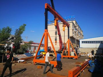 China A Frame Type Mobile Portal Crane Lifting High Efficiency Easy Operation With Wheel distributor