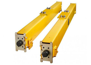 China Single Girder Crane End Carriage / End Beam With Retangular Steel Tube and Connecting Plates distributor